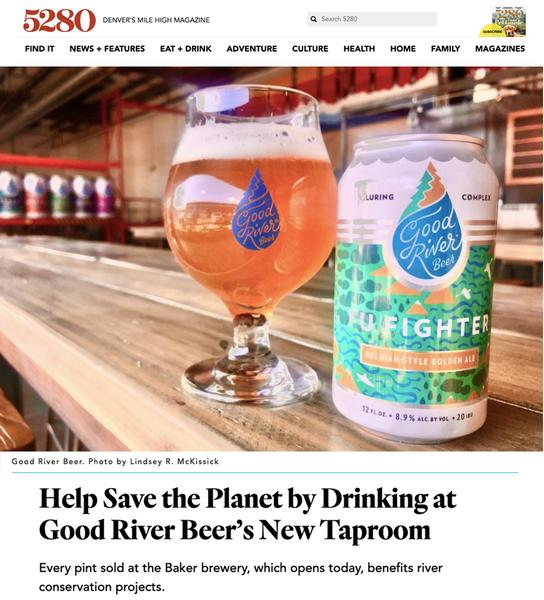 Help Save the Planet by Drinking at Good River Beer's New Taproom