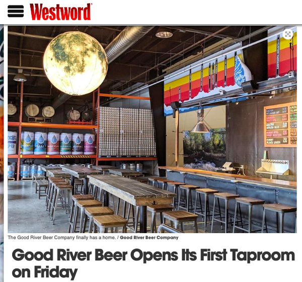 Good River Beer Opens Taproom This Friday